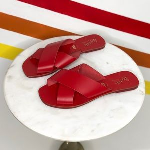 NEW Seychelles leather cross strap sandals